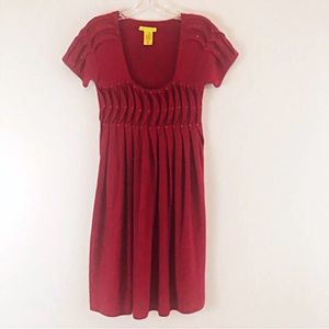 Catherine Malandrino Red Cashmere Sweater Dress